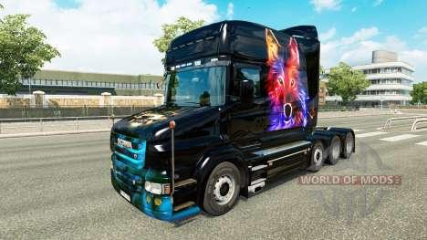 Pele de lobo v2 para a Scania T caminhão para Euro Truck Simulator 2