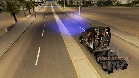 Azul, faróis de xénon para American Truck Simulator