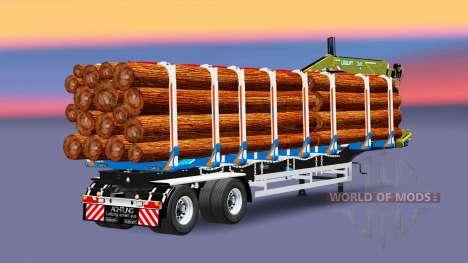 Um semi-reboque caminhão com carga Huttner para Euro Truck Simulator 2