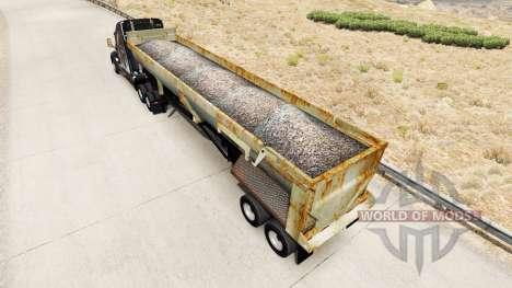 Semi-reboque basculante com ferrugem para American Truck Simulator