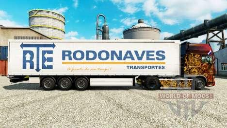 A RTE Rodonaves Transportes pele para reboques para Euro Truck Simulator 2