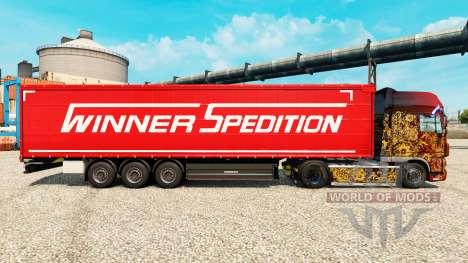 Vencedor Spedition pele para reboques para Euro Truck Simulator 2