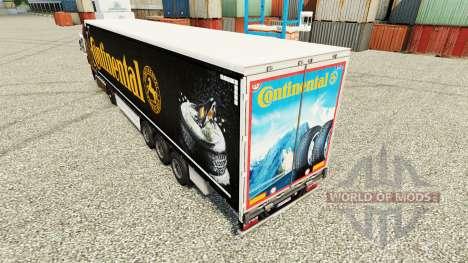 Pele Continental para semi-reboques para Euro Truck Simulator 2