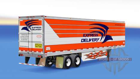 Pele de Entrega Expressa para reboques para American Truck Simulator