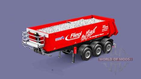 Semi-reboque basculante Fliegl Schmitz Poder Ver para Euro Truck Simulator 2