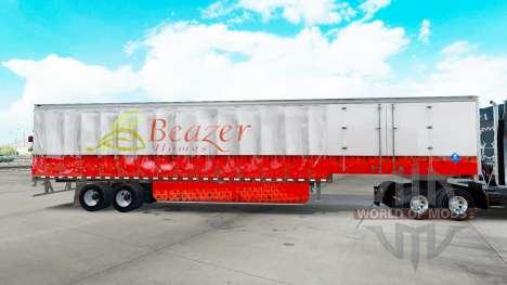 Pele Beazer Casas em uma cortina semi-reboque para American Truck Simulator