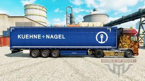 Pele Kuehne Nagel para semi-reboques para Euro Truck Simulator 2