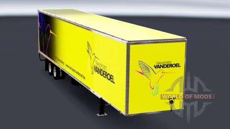 Todo em metal, semi-Vanderoel para American Truck Simulator