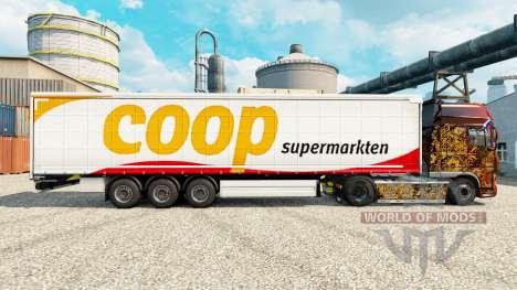 Pele Coop em reboques para Euro Truck Simulator 2