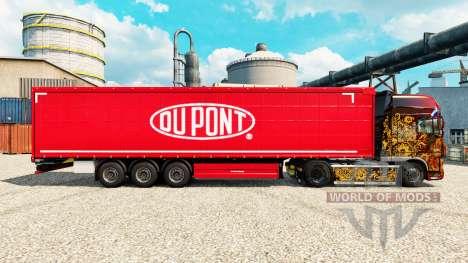 Pele Du Pont vermelho para reboques para Euro Truck Simulator 2