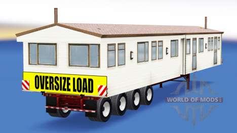 Uma coleção de trailers com diferentes cargas v3 para American Truck Simulator