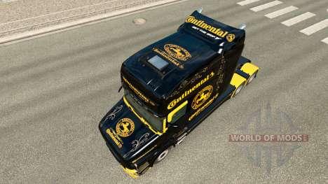 Pele Continental para o caminhão Scania T para Euro Truck Simulator 2
