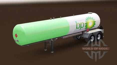 Pele BP em um tanque de gás semi-reboque para American Truck Simulator