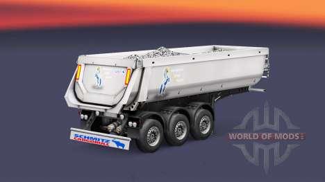 Semi-reboque basculante Schmitz, TMC para Euro Truck Simulator 2