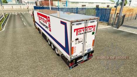 Semi-reboque frigorífico Chereau Toten Transport para Euro Truck Simulator 2