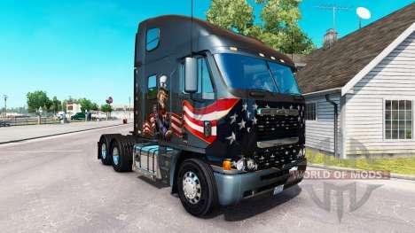 A pele do Tio Sam no caminhão Freightliner Argos para American Truck Simulator