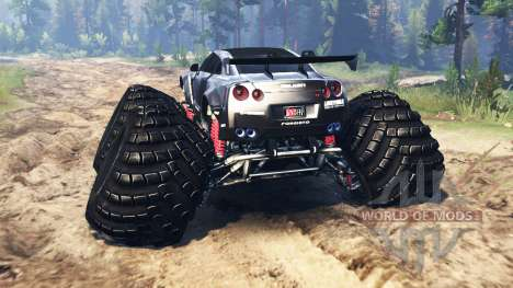 Nissan GT-R (R35) [monster truck] para Spin Tires