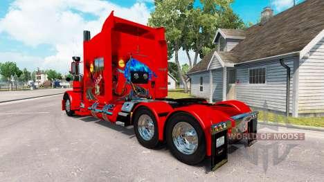 A pele do Arizona, EUA Vermelho trator Peterbilt 389 para American Truck Simulator