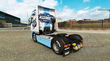 Pele HC Kometa Brno no tractor DAF para Euro Truck Simulator 2