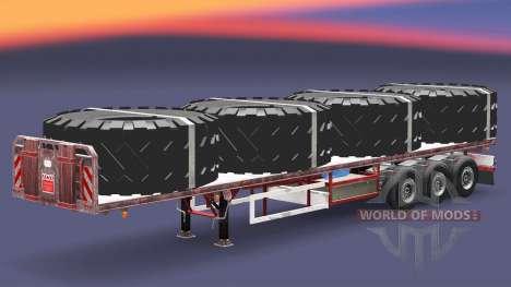 Semi-reboque-plataforma com cargas v3.2 para Euro Truck Simulator 2