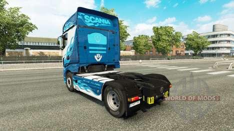 Chama azul da pele para a Scania caminhão R700 para Euro Truck Simulator 2