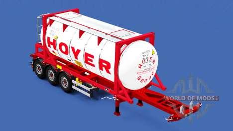 Semi-reboque-contêiner o caminhão com cargas dif para American Truck Simulator