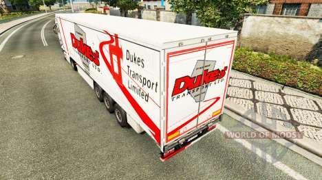 Duques de Transporte de pele para reboques para Euro Truck Simulator 2