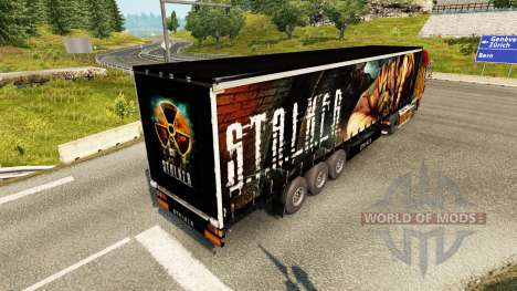 Pele S. T. A. L. K. E. R. na semi para Euro Truck Simulator 2