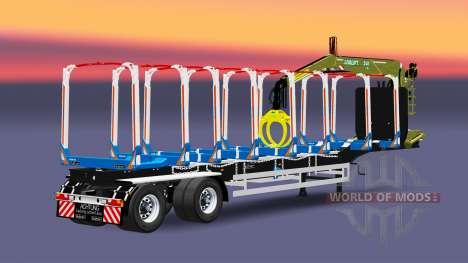 Um caminhão semi-reboque Huttner para Euro Truck Simulator 2