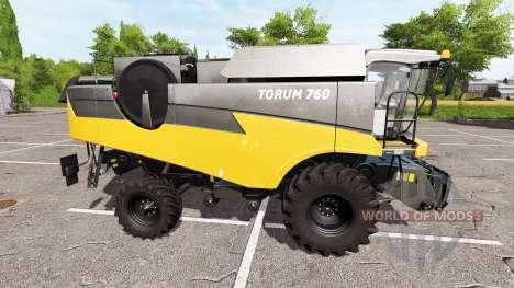 Rostselmash Tora 760 eu laranja para Farming Simulator 2017