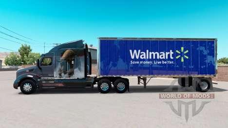 Pele Walmart no pequeno trailer para American Truck Simulator