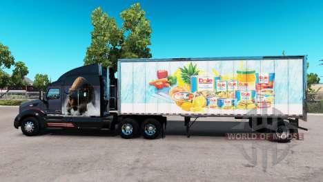 Pele Dole no pequeno trailer para American Truck Simulator