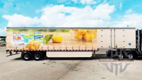 Pele Dole em uma cortina semi-reboque para American Truck Simulator