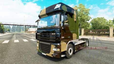 Camo pele para caminhões DAF para Euro Truck Simulator 2
