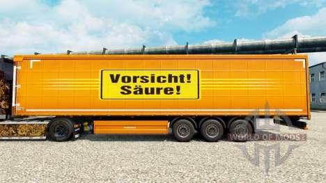 Cuidado da pele Ácido para reboques para Euro Truck Simulator 2
