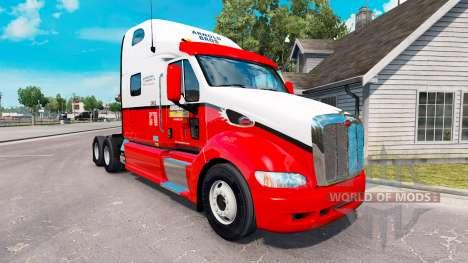 A pele Arnold Bros trator Peterbilt 387 para American Truck Simulator