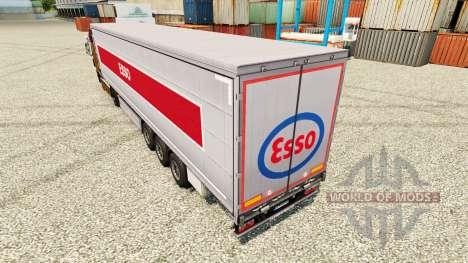 Pele Esso na semi para Euro Truck Simulator 2