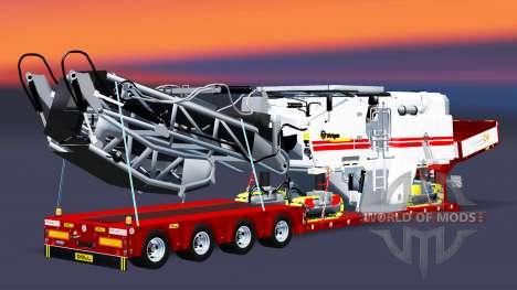 Baixa varrer com uma carga plainas v3.0 para Euro Truck Simulator 2