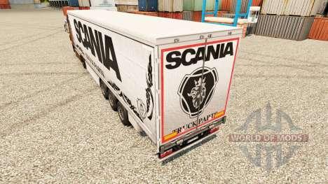 Pele branca Scania Truck Peças para semi-reboque para Euro Truck Simulator 2