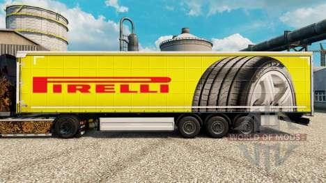 Pirelli pele para reboques para Euro Truck Simulator 2