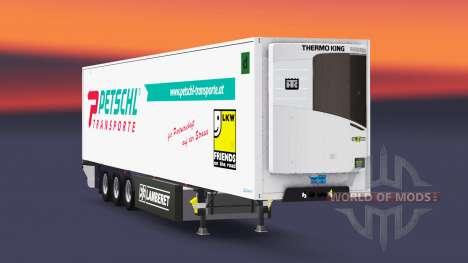 Caminhão de cargas reefer PT Petschl para Euro Truck Simulator 2