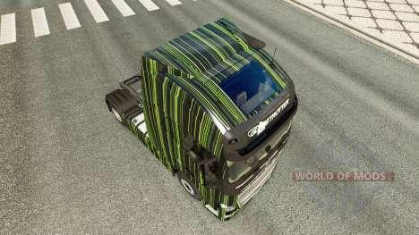 Listras verdes pele para a Volvo caminhões para Euro Truck Simulator 2