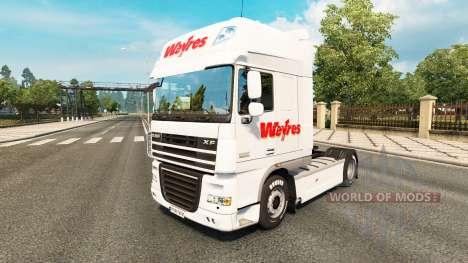 Weyres pele para caminhões DAF para Euro Truck Simulator 2