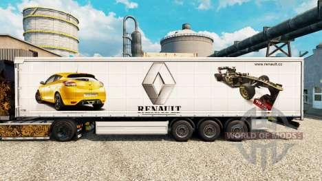 Pele Renault F1 Team v2 na semi para Euro Truck Simulator 2