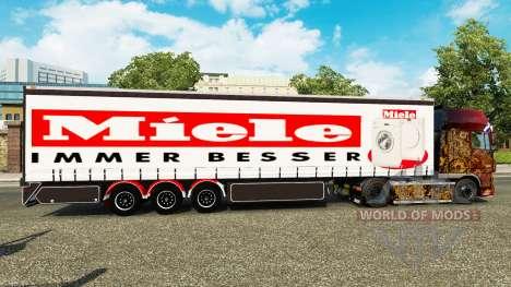 Cortina semi-reboque Miele para Euro Truck Simulator 2