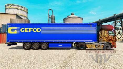 Gefco pele para reboques para Euro Truck Simulator 2