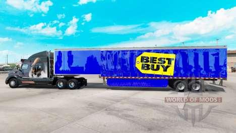 Pele Best Buy em cortina semi-reboque para American Truck Simulator