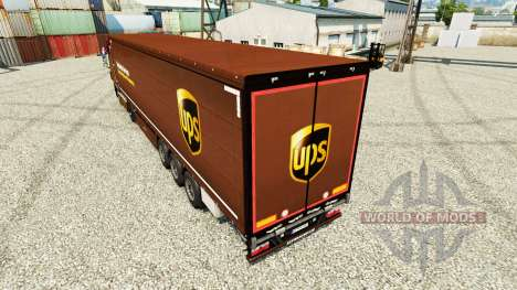 Pele United Parcel Service Inc. na semi para Euro Truck Simulator 2