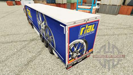 Pele Rial para reboques para Euro Truck Simulator 2