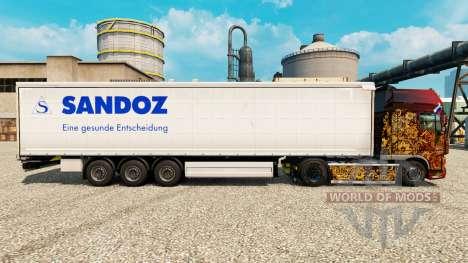 Pele Sandoz para reboques para Euro Truck Simulator 2